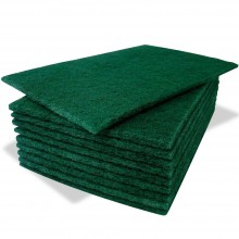 green scraping sponge x10