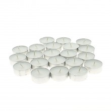 White flat candle x50