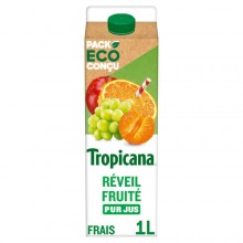 TROPICANA REVEIL FRUITE PET 1L X06