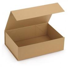 Boîte en Carton Kraft Fermeture Aimantée 265*275*68MM X5